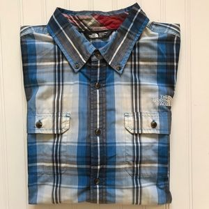 THE NORTH FACE Short Sleeve Button Down Shirt!   L